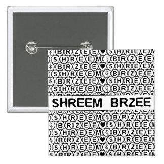 Incantation blanche d'argent de Shreem Brzee de Macaron Carré 5 Cm
