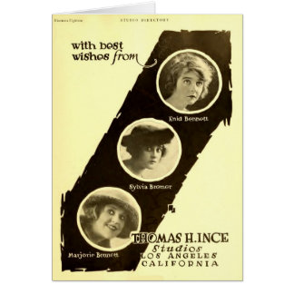 Ince actresses 1918 silent film exhibitor ad card