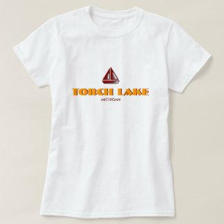 INCENDIEZ LE LAC, MICHIGAN, bébé de dames - la Tee-shirt