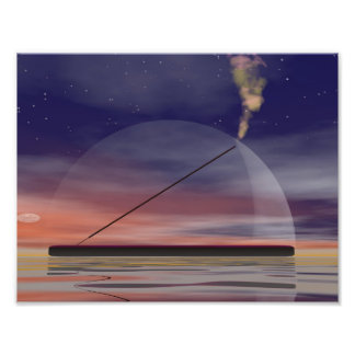 Incense - 3D render Photo Print