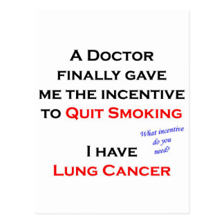 Incentive to quit smoking postcard