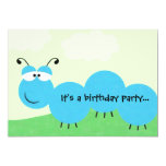 "Inch Worm It's a Party Birthday Party Invitation 5"" X 7"" Invitation Card"