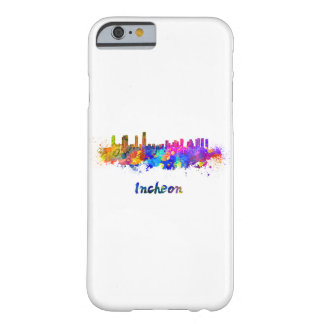 Incheon skyline in watercolor barely there iPhone 6 case