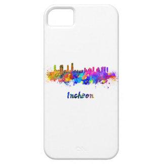 Incheon skyline in watercolor iPhone 5 cases