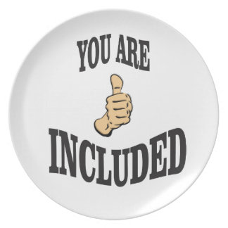 included thumbs ups fun plate