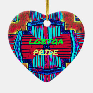 Inclusive 'LGBTQA PRIDE 'Rainbow Spectrum Ceramic Ornament
