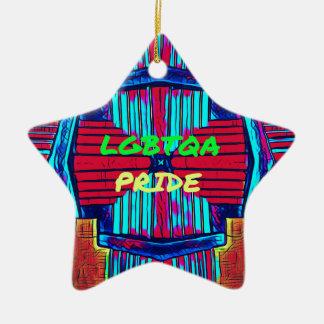Inclusive 'LGBTQA PRIDE 'Rainbow Spectrum Ceramic Star Ornament