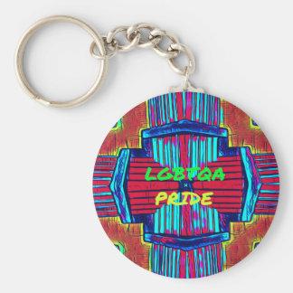 Inclusive 'LGBTQA PRIDE 'Rainbow Spectrum Keychain