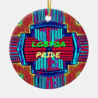 Inclusive 'LGBTQA PRIDE 'Rainbow Spectrum Round Ceramic Ornament