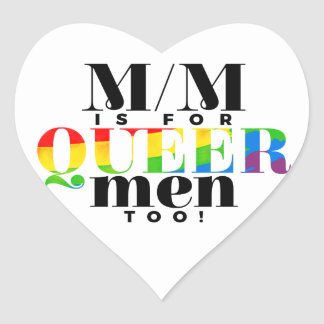 Inclusive M/M Heart Stickers