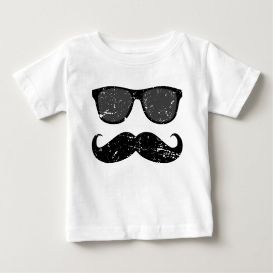 incognito - funny moustache and cool shades baby T-Shirt