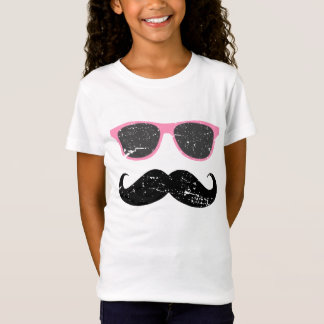 Incognito girl - funny mustache and sunglasses T-Shirt