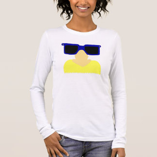 Incognito Moustache & Glasses Womens Long-Sleeve T Long Sleeve T-Shirt