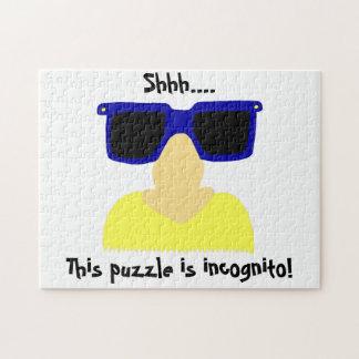 Incognito Mustache & Glasses Puzzle