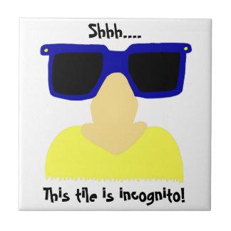 Incognito Mustache & Glasses Tile