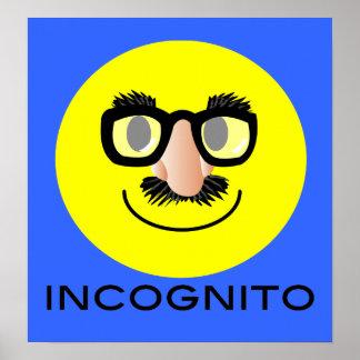 'incognito' SMILEY FACE PRINT