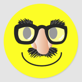 'incognito' SMILEY FACE STICKERS