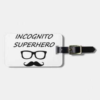 Incognito Superhero 04B Luggage Tag