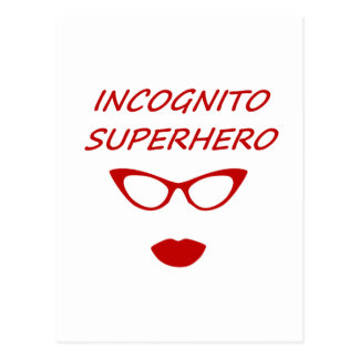 Incognito Superhero 3RB Postcard