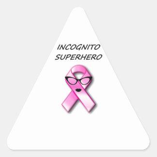 Incognito Superhero 6 pink Triangle Sticker