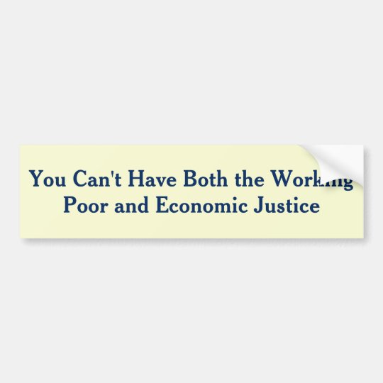Income Inequality is killing the Middle Class Bumper Sticker