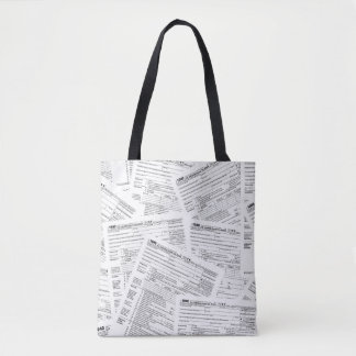 Income tax forms tote bag