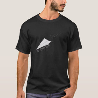 Incoming Paper Airplane T-Shirt