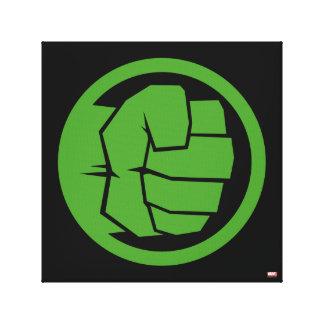 Incredible Hulk Logo Canvas Print