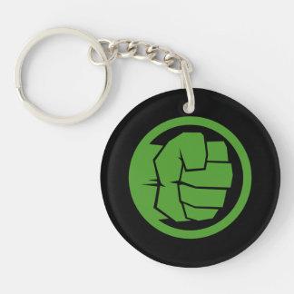 Incredible Hulk Logo Double-Sided Round Acrylic Keychain