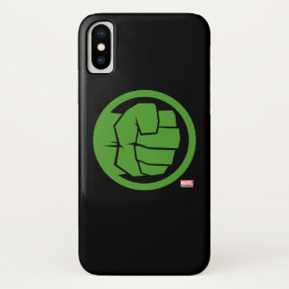 Incredible Hulk Logo iPhone X Case