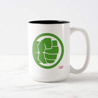 Incredible Hulk Logo Two-Tone Coffee Mug