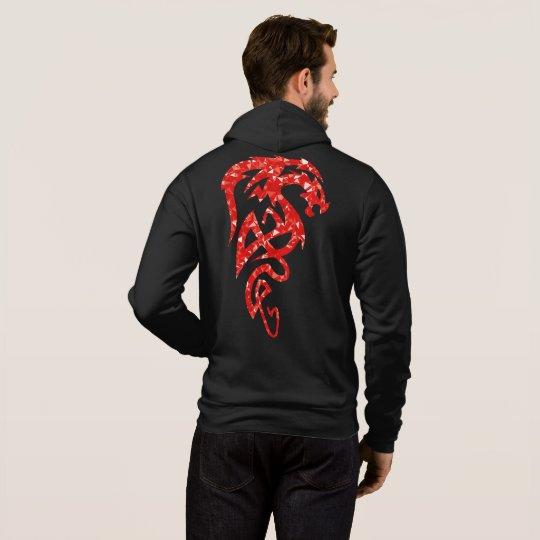 Incredible Men's Full-Zip Hoodie In Dragon Design