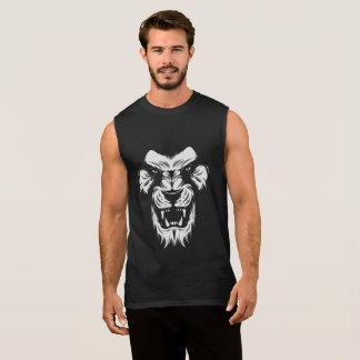 Incredible Men's Sleeveless T-Shirt In Lion Design