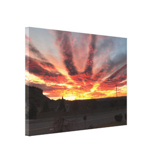 Incredible Montana Sunrise. Canvas Print