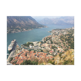 Incredible view of the bay of Kotor Canvas Print