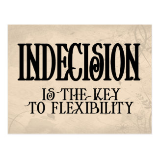 Indecision Postcard