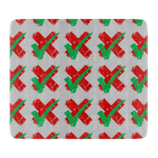 indecision Tick Cross Pattern Cutting Board