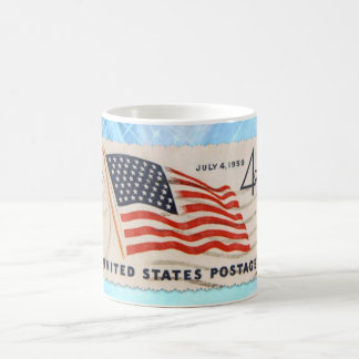Independance Day Vintage American Postage Stamp Coffee Mug