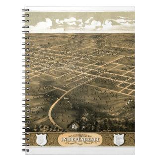 independence1868 spiral notebook