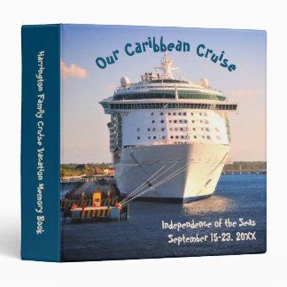 Independence at Cozumel Custom Cruise Memory Book 3 Ring Binder