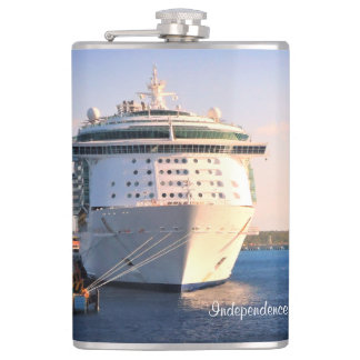 Independence at Cozumel Custom Hip Flask