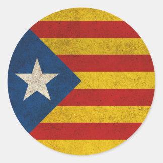 Independence Catalonia Lliure Estelada Classic Round Sticker