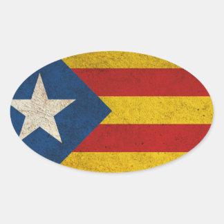 Independence Catalonia Lliure Estelada Oval Sticker