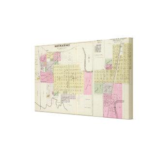 Independence, Coffeyville and Havana, Kansas Canvas Print