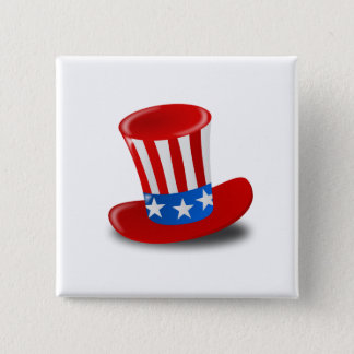 Independence Day 2 Inch Square Button