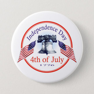 Independence Day 3 Inch Round Button