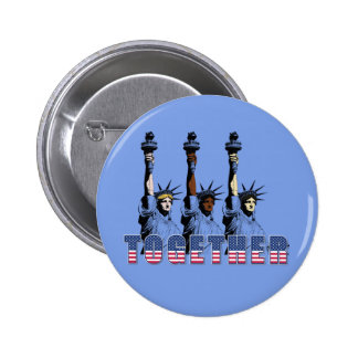 Independence Day 4th July Statue Liberty Patriotic 2 Inch Round Button