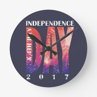 Independence DAY & 4th July USA Wall Clock