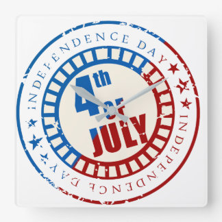 Independence Day 4th of July look time Wall Clock