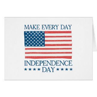 Independence Day 4th of July Retro Card